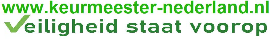 Logo keurmeesternederland.nl en sloagan site